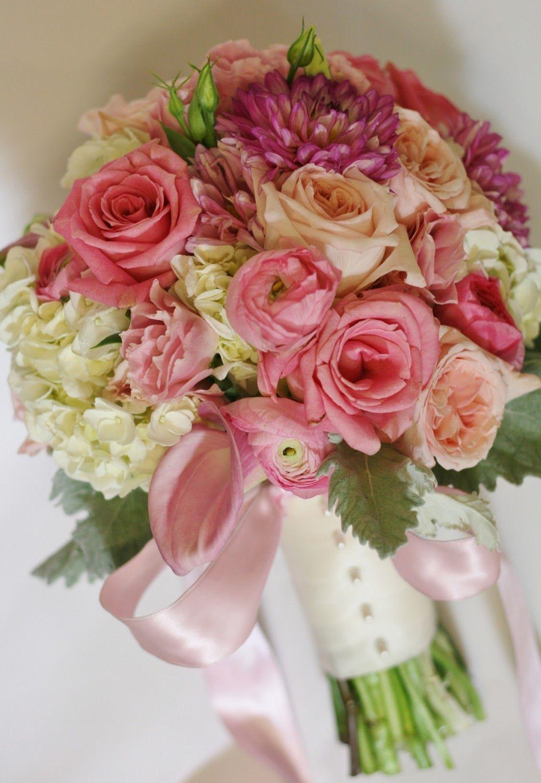 Pink Bridal Bouquet sideview Black Tulip Event Floral