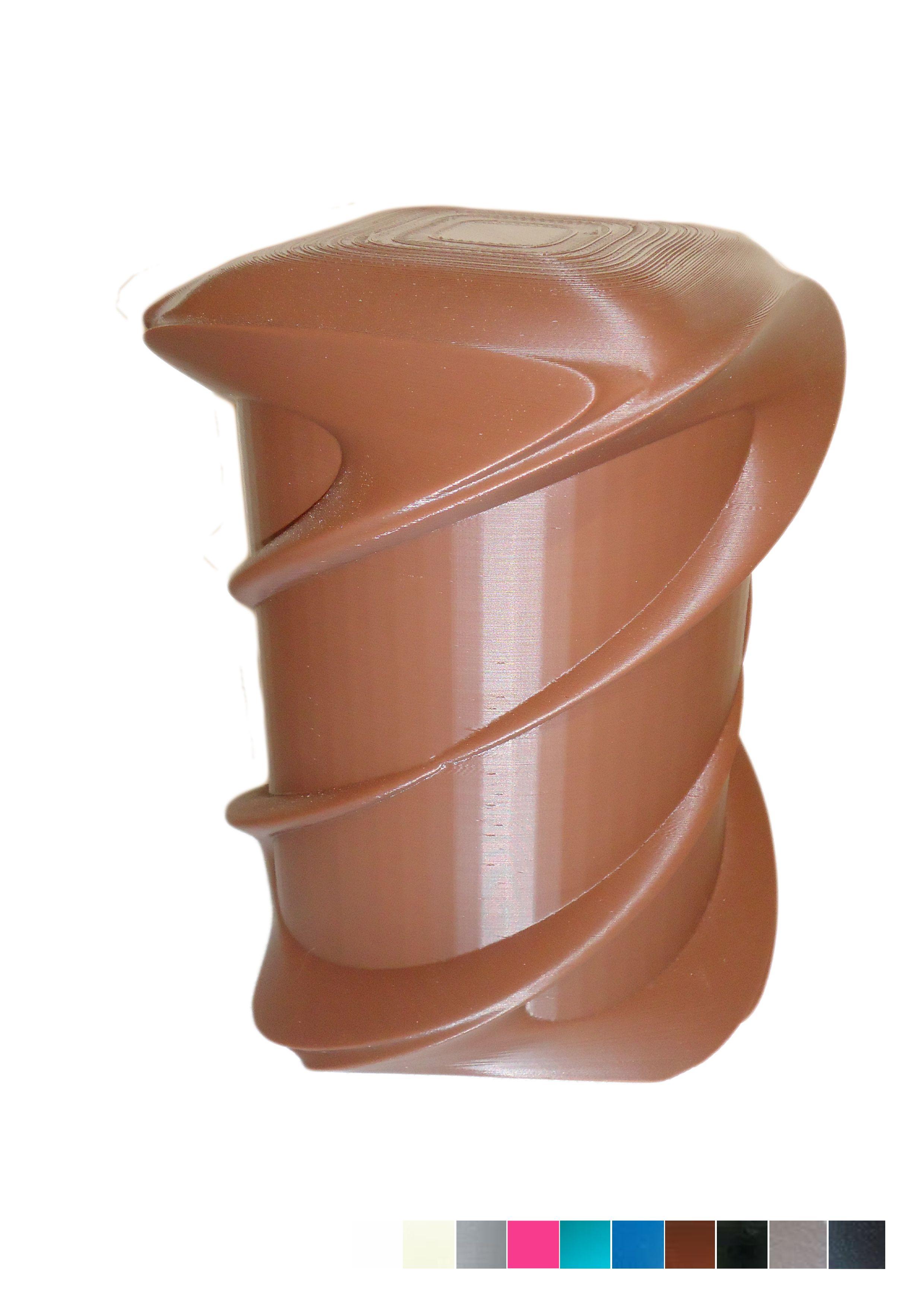 FGS - Urne aux formes enlacées par de délicats courbures. Bouchon à coller. Colle non fournie. L'urne peut reposer en extérieur comme en intérieur. Autres couleurs sur demande.