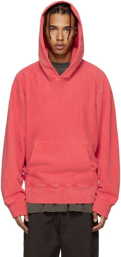 56057a9fc YEEZY Season 3 Red Fleece Hoodie