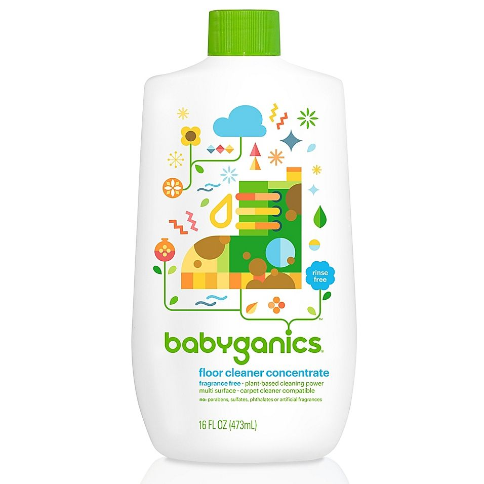 Babyganics 16 Oz Fragrance Free Floor Cleaner Concentrate Clear