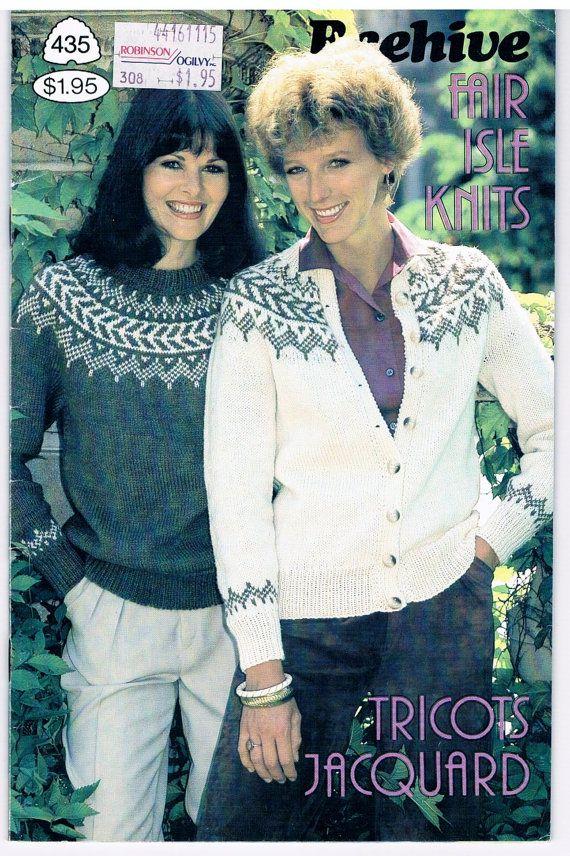 Vintage Beehive Fair Isle Knits Pattern | Free knitting, Knitting ...