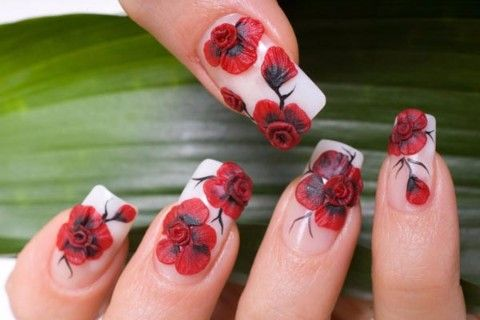floral nail art design gives life to your nailsadding