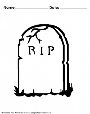 Halloween Headstone Coloring Pages Halloween Headstone Coloring Pages Headstones