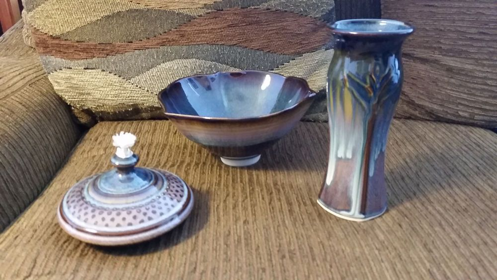 Ceramic Bowl, Vase, Oil Candle set #giftidea #gift #Gifts #giftideas #ceramics
