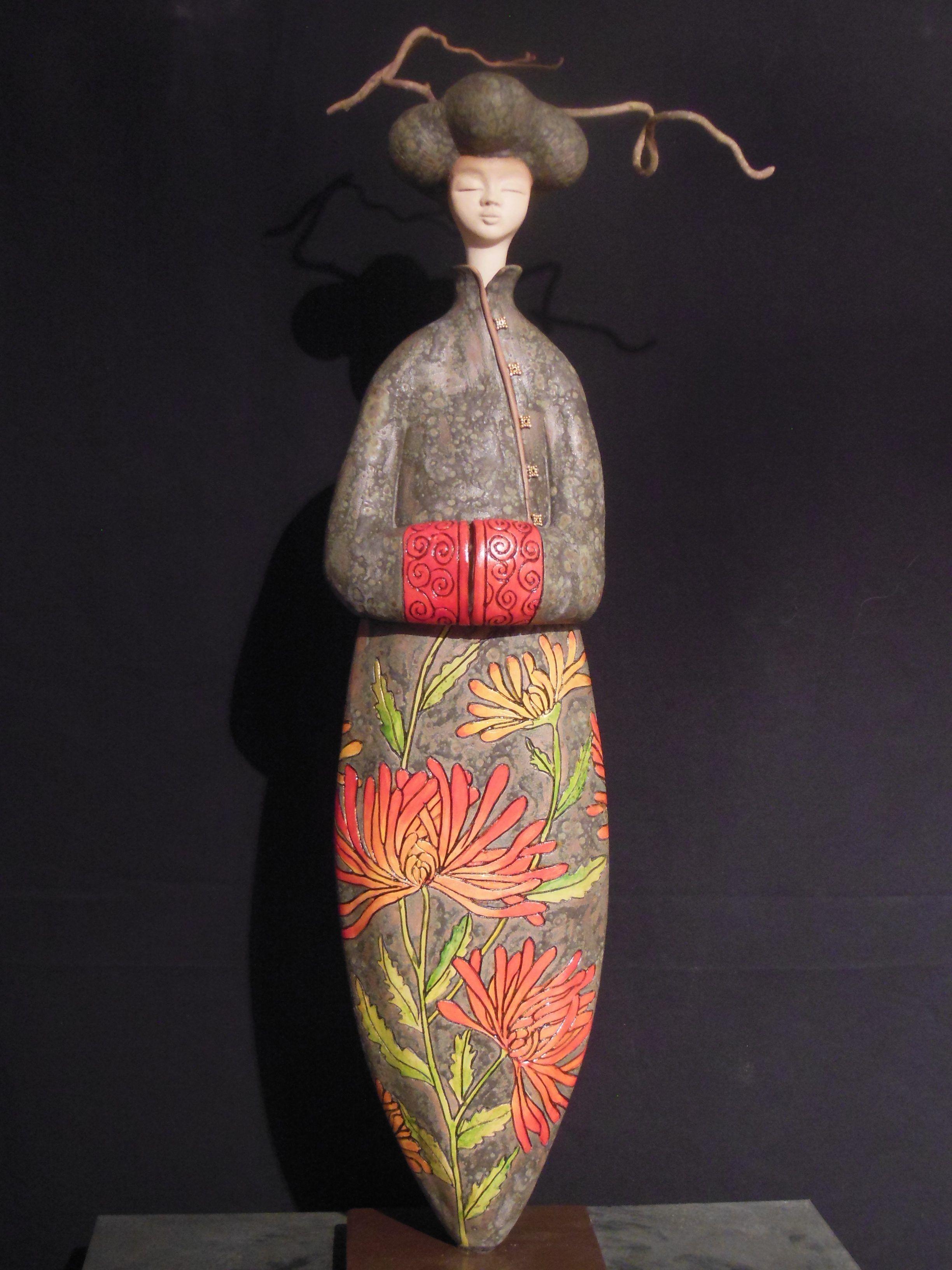 Sculpture ceramique tokyo japon femme contemporaine for Sculpture contemporaine