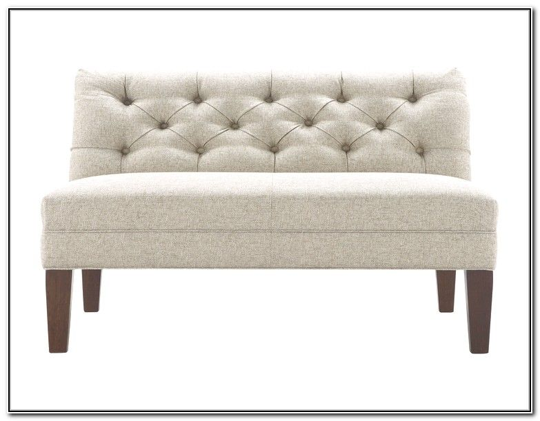 Upholstered Bench With Low Back 24258   Hoopsofly.com