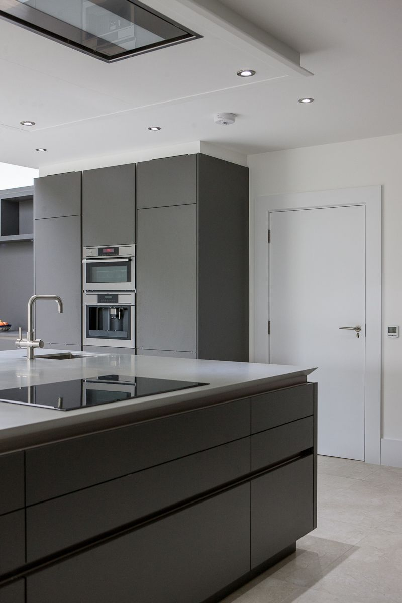 Warm Grey Corian Designed By Uber Kitchens Home Decor In 2019