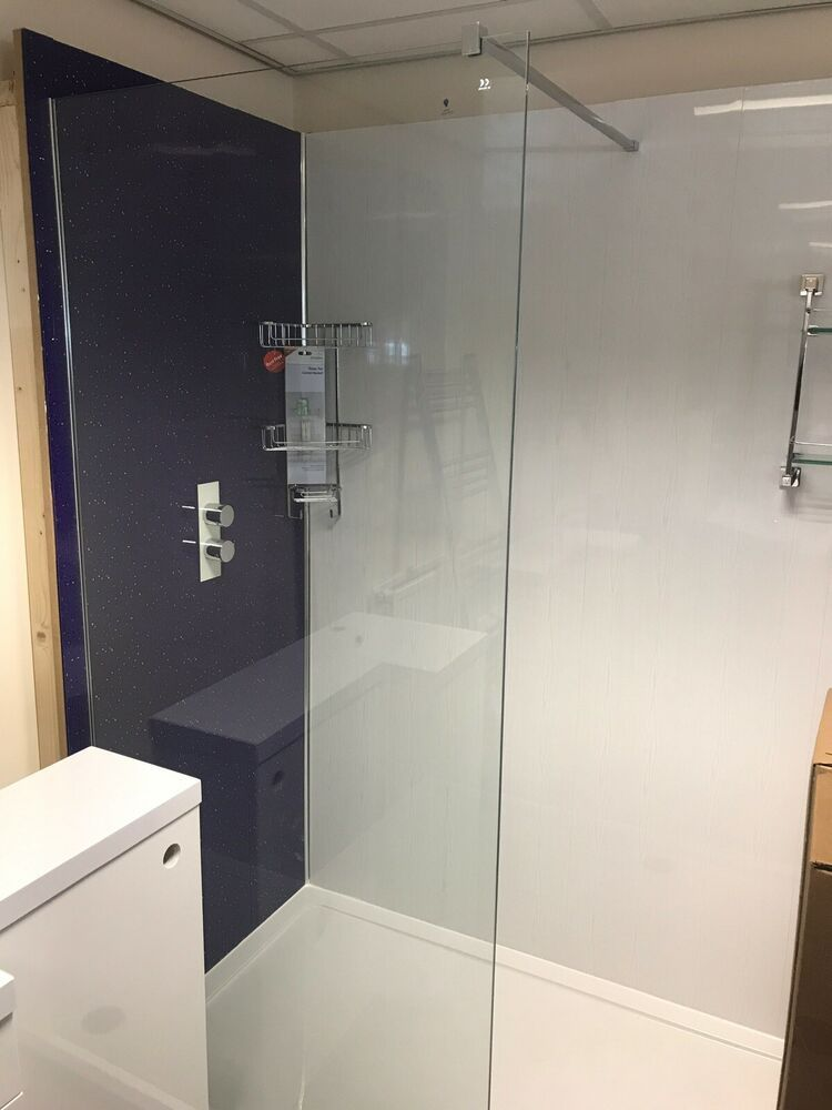 Details about 1700mmex display wall in shower enclosure