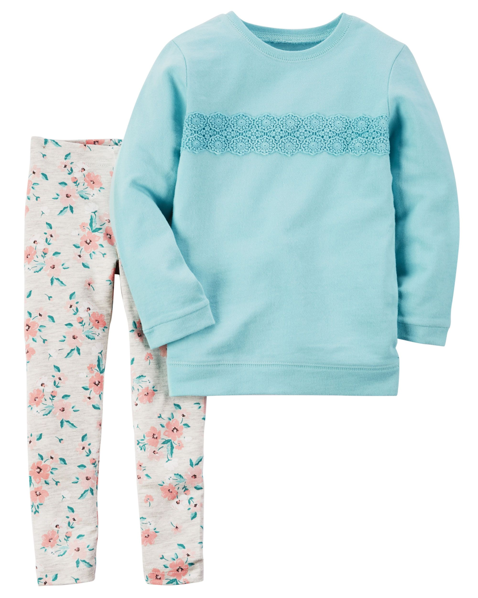 038e830d2e295 Toddler Girl 2-Piece French Terry Pullover & Legging Set | Carters.com