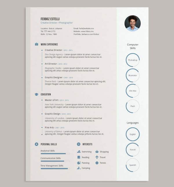 free ai simple cv design template