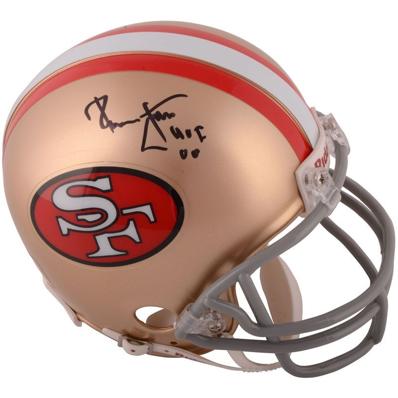 Ronnie Lott San Francisco 49ers Fanatics Authentic Autographed Riddell  Throwback Mini Helmet with HOF 00 Inscription 8724029de