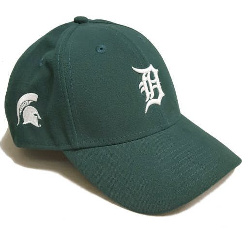 huge selection of fb908 b779a Michigan State Spartans Green Hat With Detroit Tigers D on Front - SBSEL  ( 29.95)