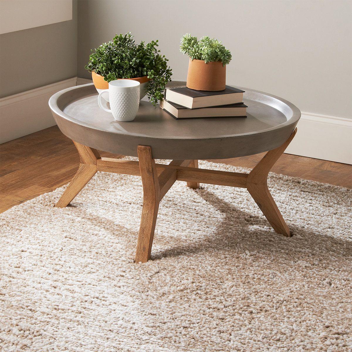 Round Concrete Tray Coffee Table Concrete Coffee Table Round Wood Coffee Table Coffee Table Inspiration [ 1200 x 1200 Pixel ]