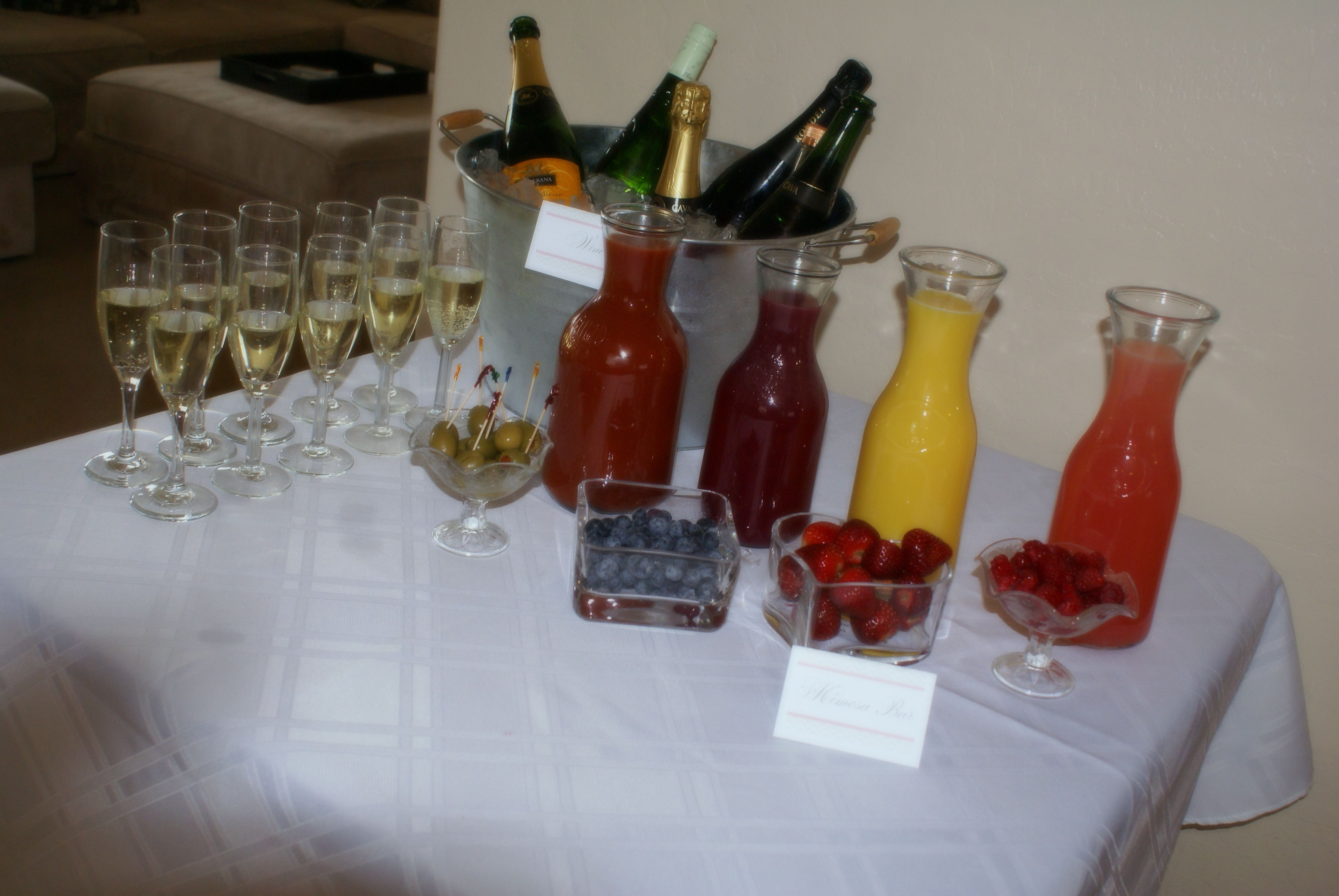 #BridalShower #vintage #rustic Mimosa Bar