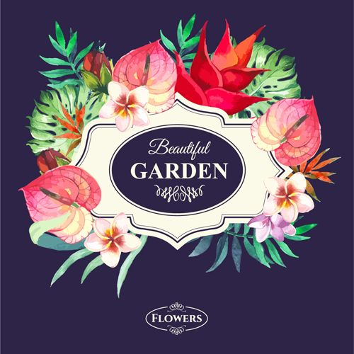 Garden Flower Frame Design Art Vector 15 Vector Flower Free Download Flower Frame Vector Flowers Frame Design