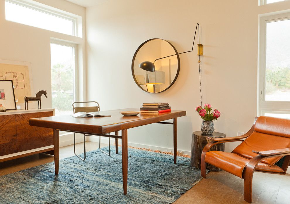 magnificent mid century modern wall sconce with stump side table next to wooden desk alongside with modern home officesmodern