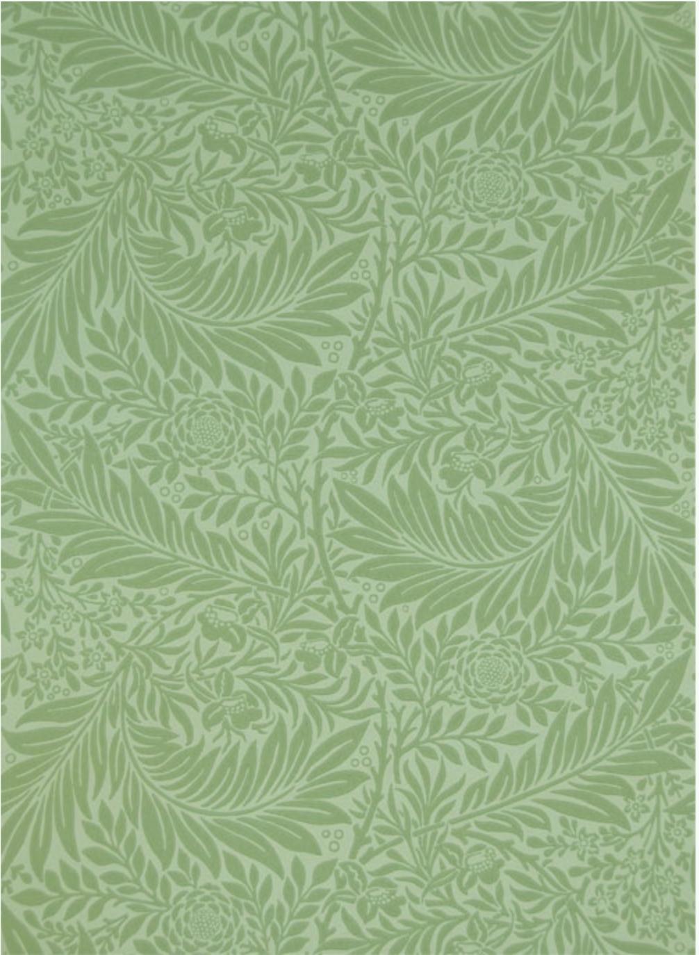 Larkspur wallpaper, designed by Morris in 1872.