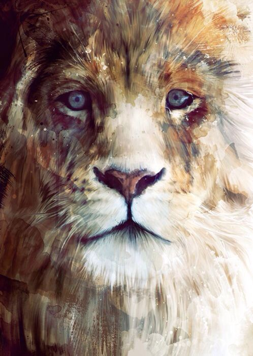 Lion Painting...  I wan this for my tat in the summer lol i really love it