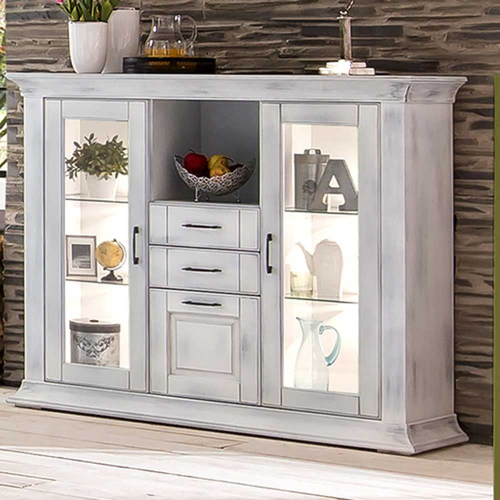 Highboard Alberton Im Shabby Chic Design In Weiss Shabby Chic Design Shabby Chic Badezimmer Schabby Schick