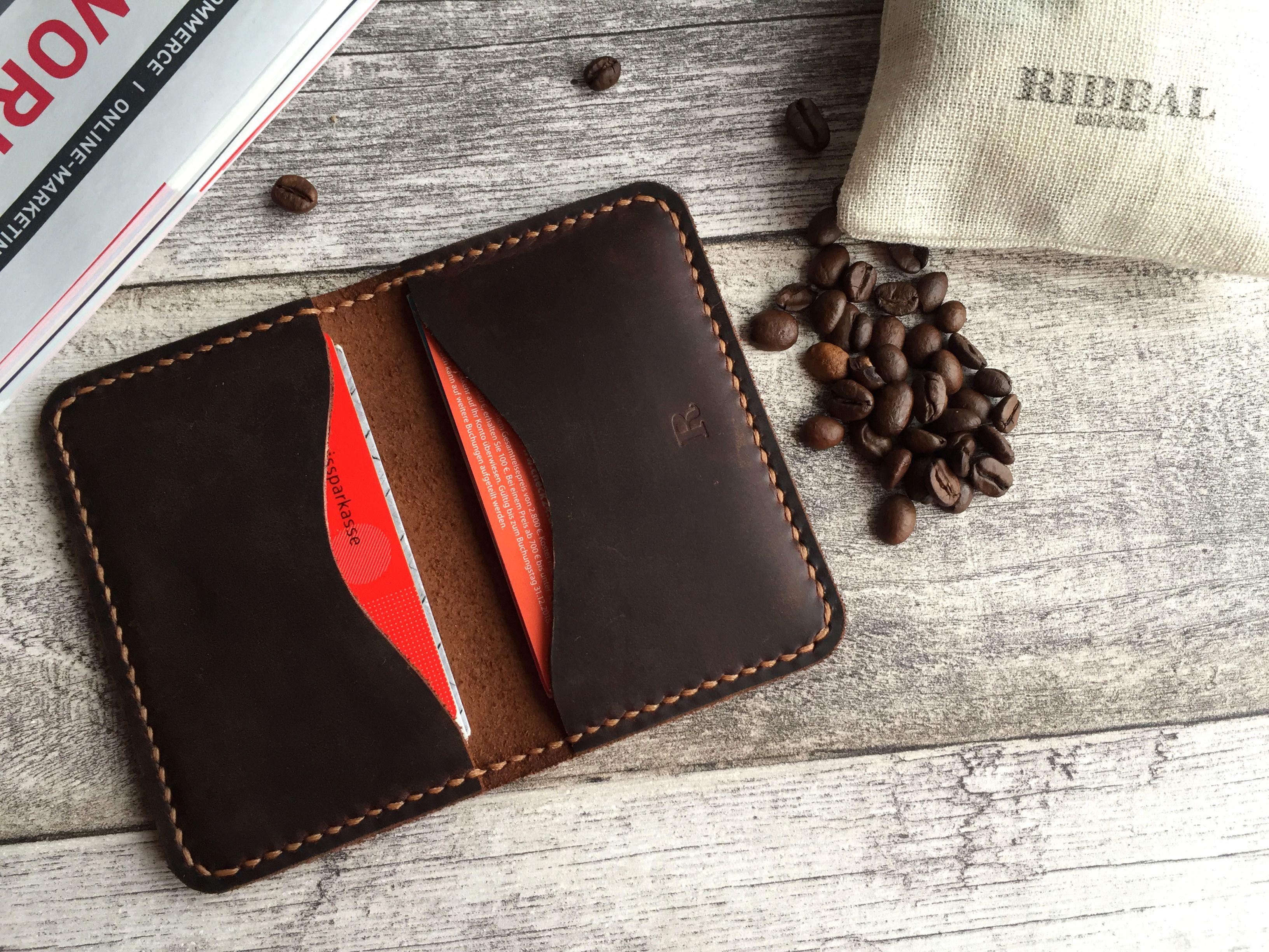 Slim Wallet Geldbörse visitenkarten Etui Business kartenetui | echt ...