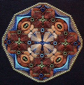 Pierrette's Stitching Gallery: The Dodecagon Series designed by Jim Wurth, charted needlepoint