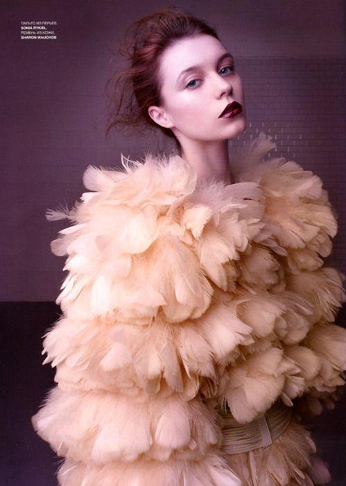 blush colored feathers.ZsaZsa Bellagio