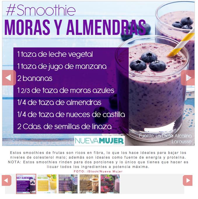 Smoothie Moras y Almendras