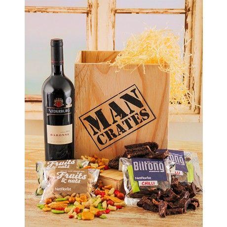 Van Loveren Wine & Nuts Man Crate | Man crates, Wooden crates and ...
