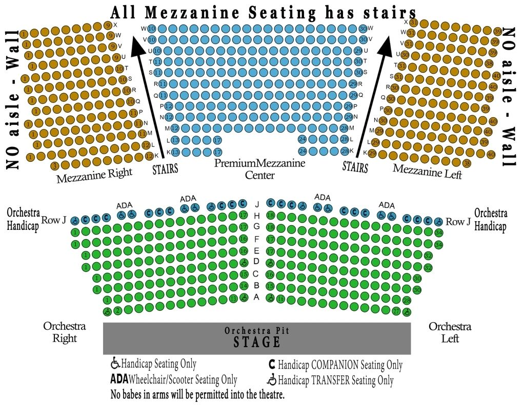 Genesee Theater Seating Chart Seating Charts Theater Seating Seating Chart Template