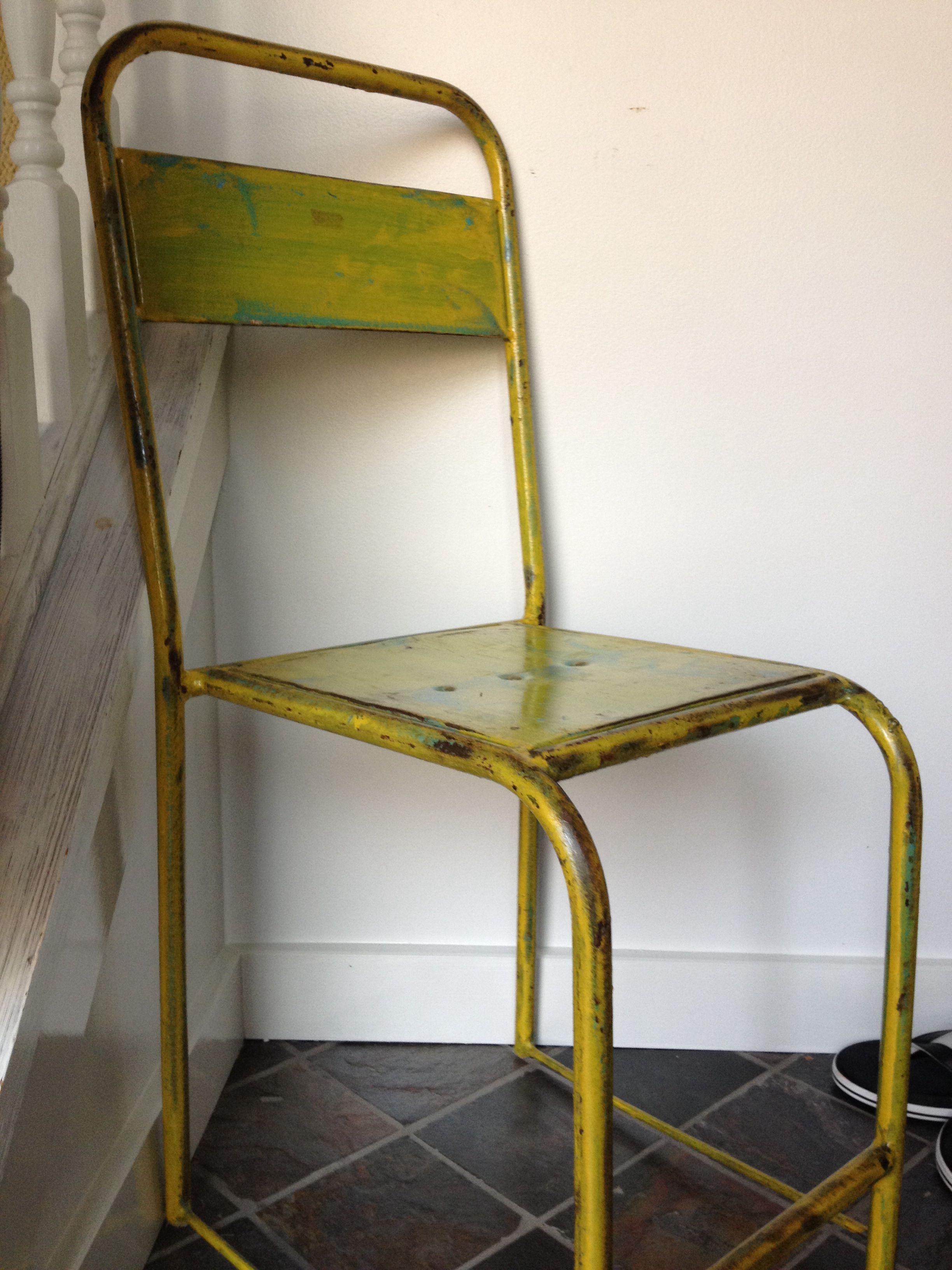 Old metal camp chair upcycled. From Tuesday Morning - $25 ...
