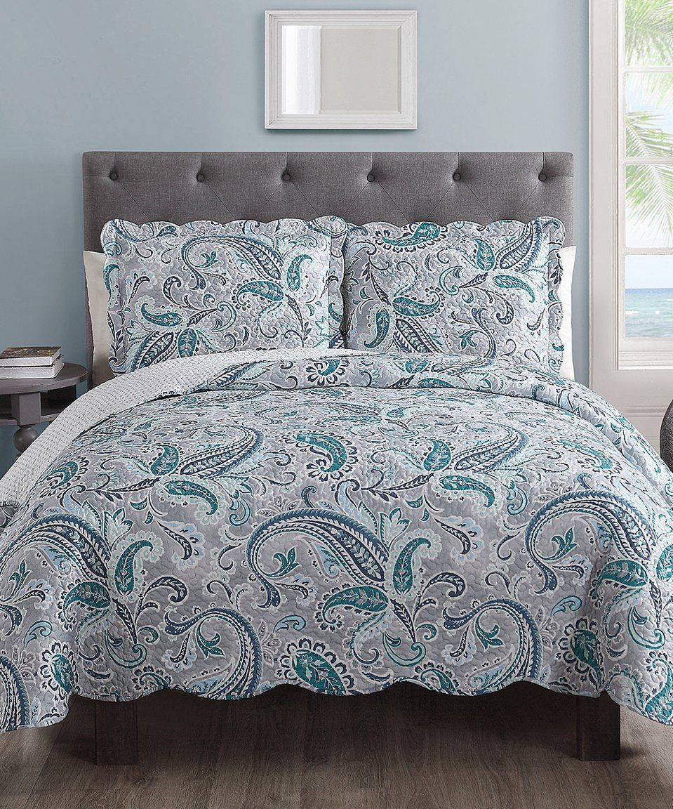 Another Great Find On Zulily S L Home Fashions Teal Gray