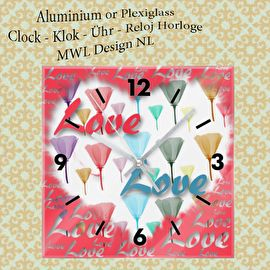Vierkante Klok MWL Design NL