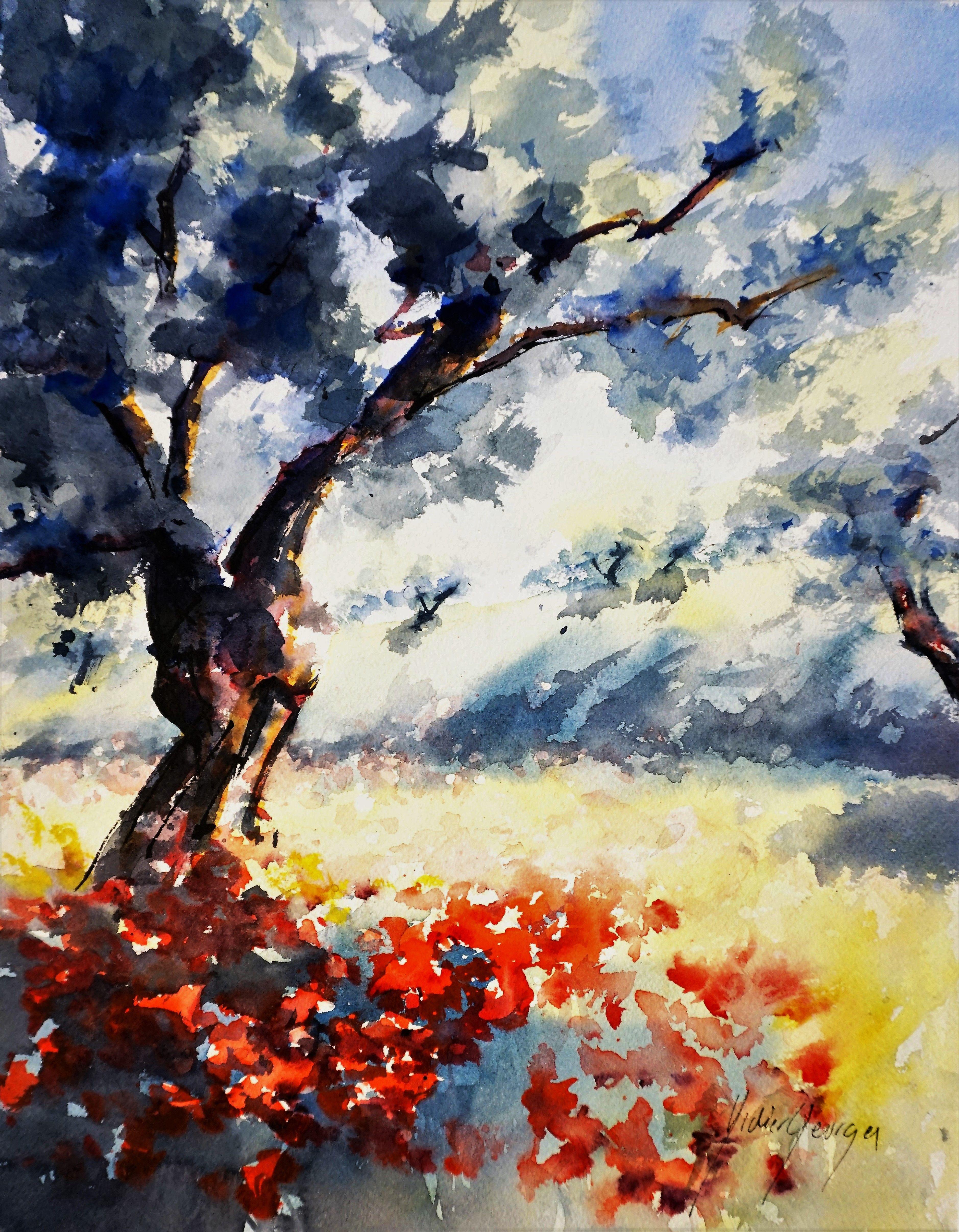 Provence Aquarelle De Didier Georges Aquarelle Peinture