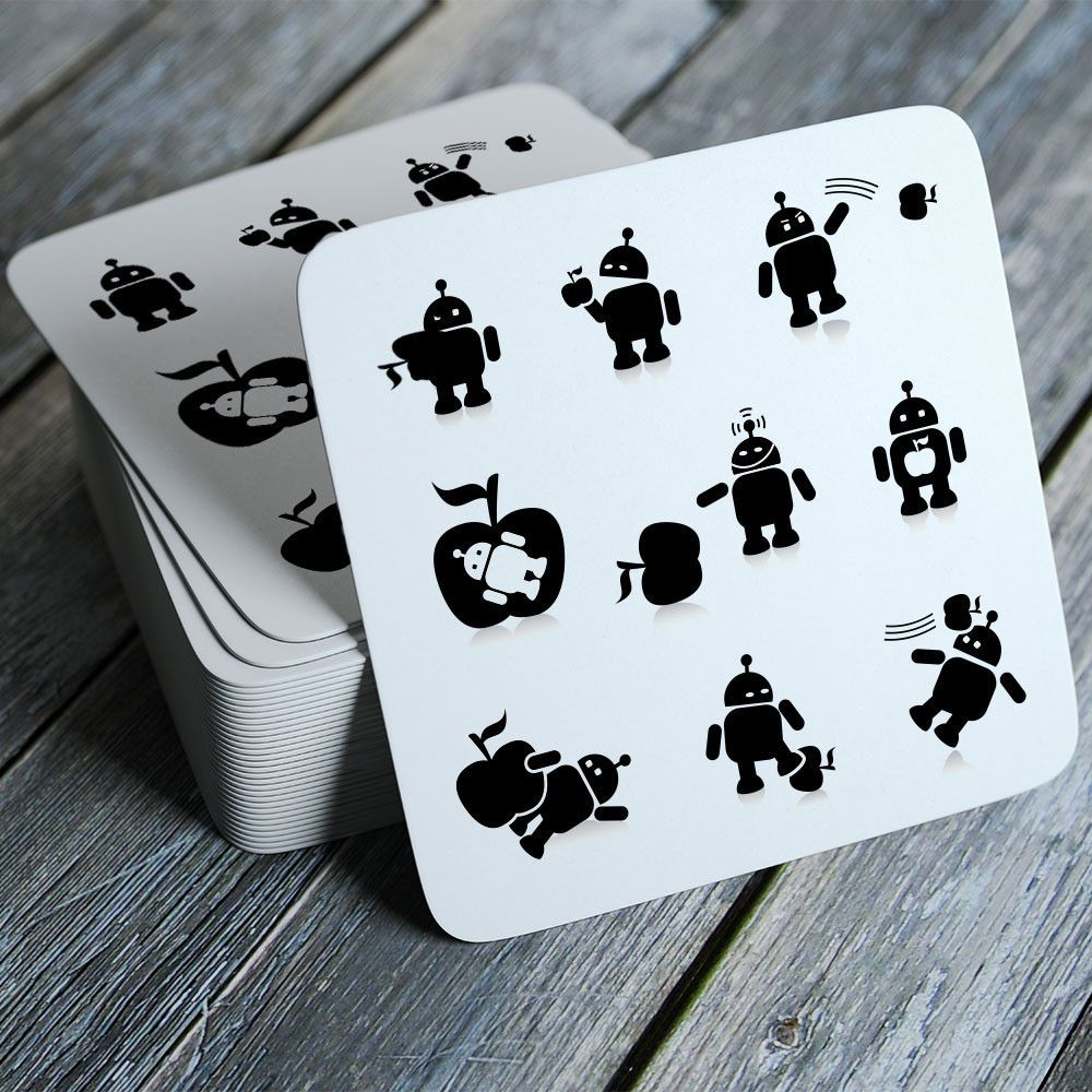 Android/Apple - Funny Coasters Set