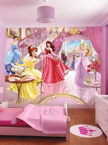 Disney Princess Wallpapers and Stickers for Teen Girls Bedroom Dcor