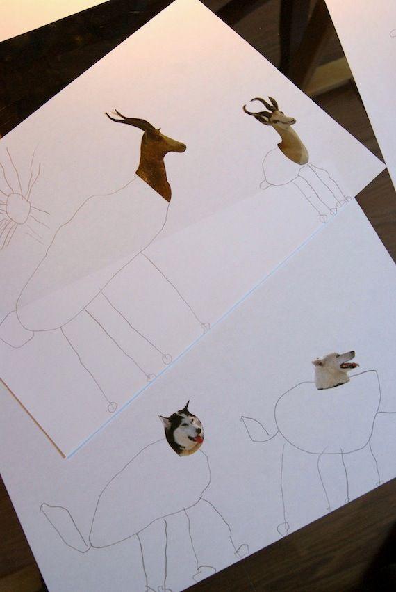 collage para hacer con ninos pequenos de preescolar actividades
