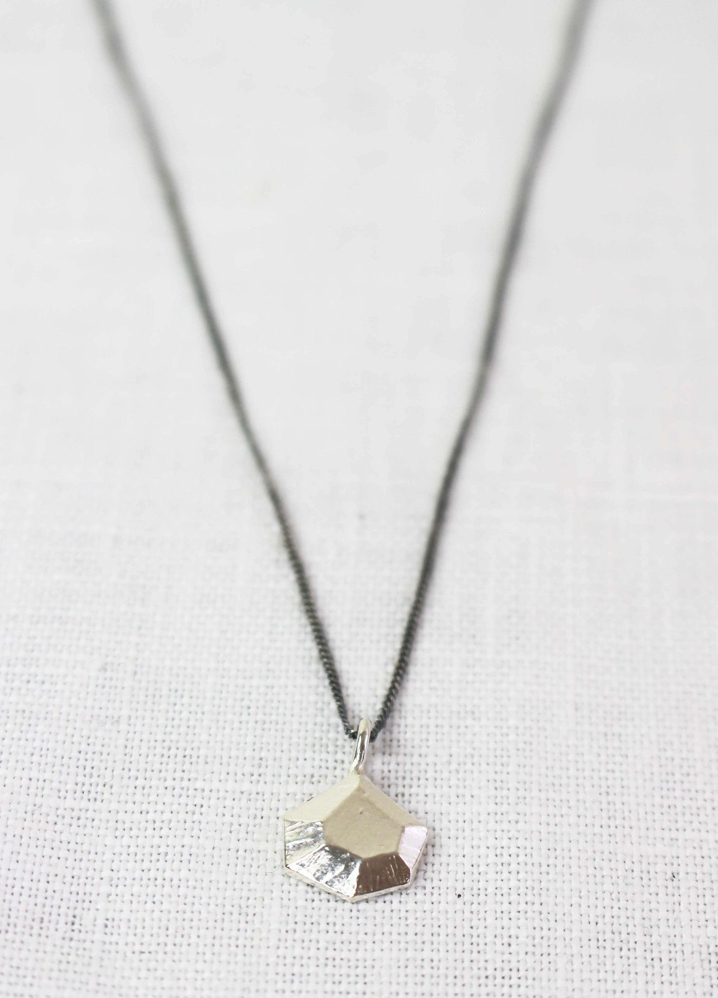 Adeline silver nugget necklace products