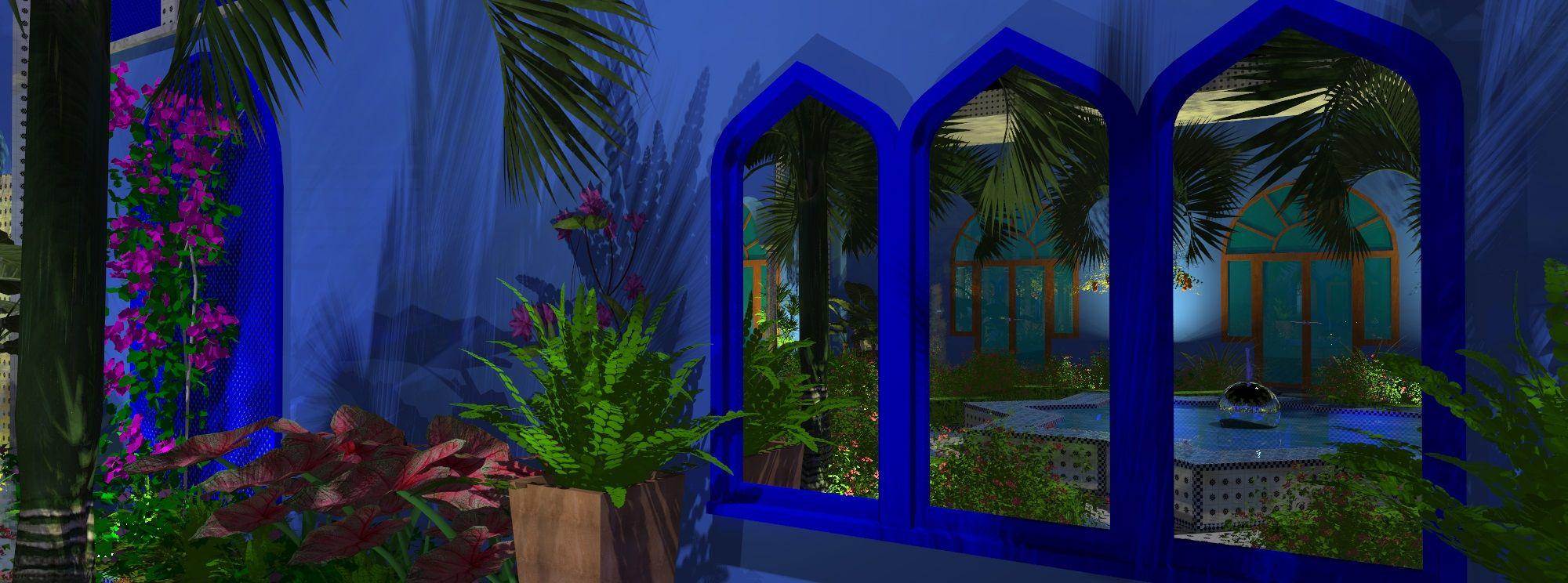Landscape Video Moroccan Garden Design / Colonnaded ...