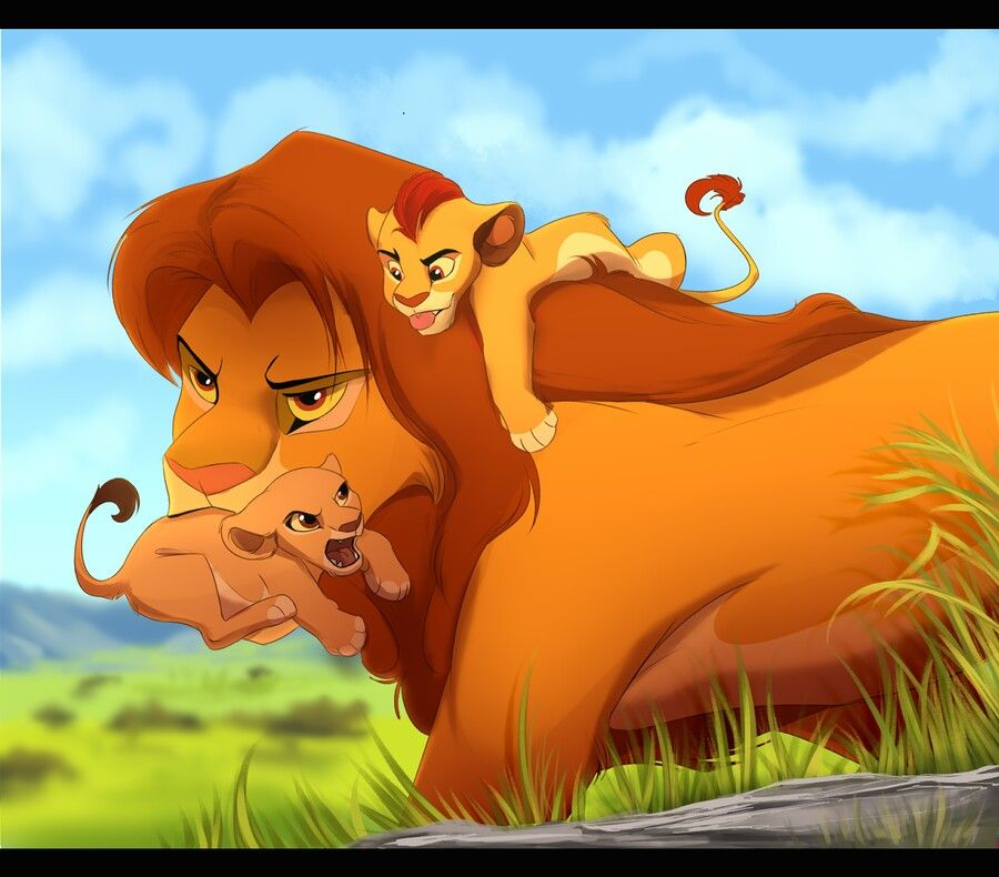 Simba, Kion And Kiara :D