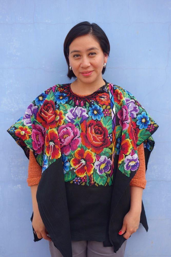 Maya Woman\'s Vintage Floral Huipil from Chichicastenango, Guatemala ...