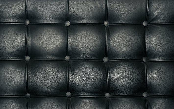 Leather Sofa Black Pattern Texture Sofa Texture Black