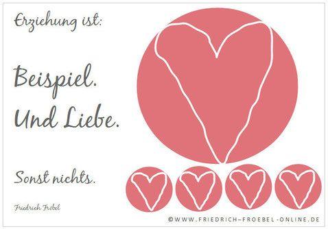 Zitat Von Frobel Erziehung Ist Beispiel Und Liebe Erziehung Zitate Spruche Kinder