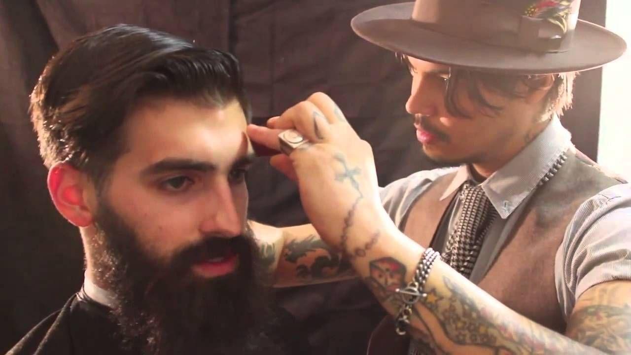 Modern pompadour beard - The Bearded Gentleman Haircut And Style Featuring Joel Alexander