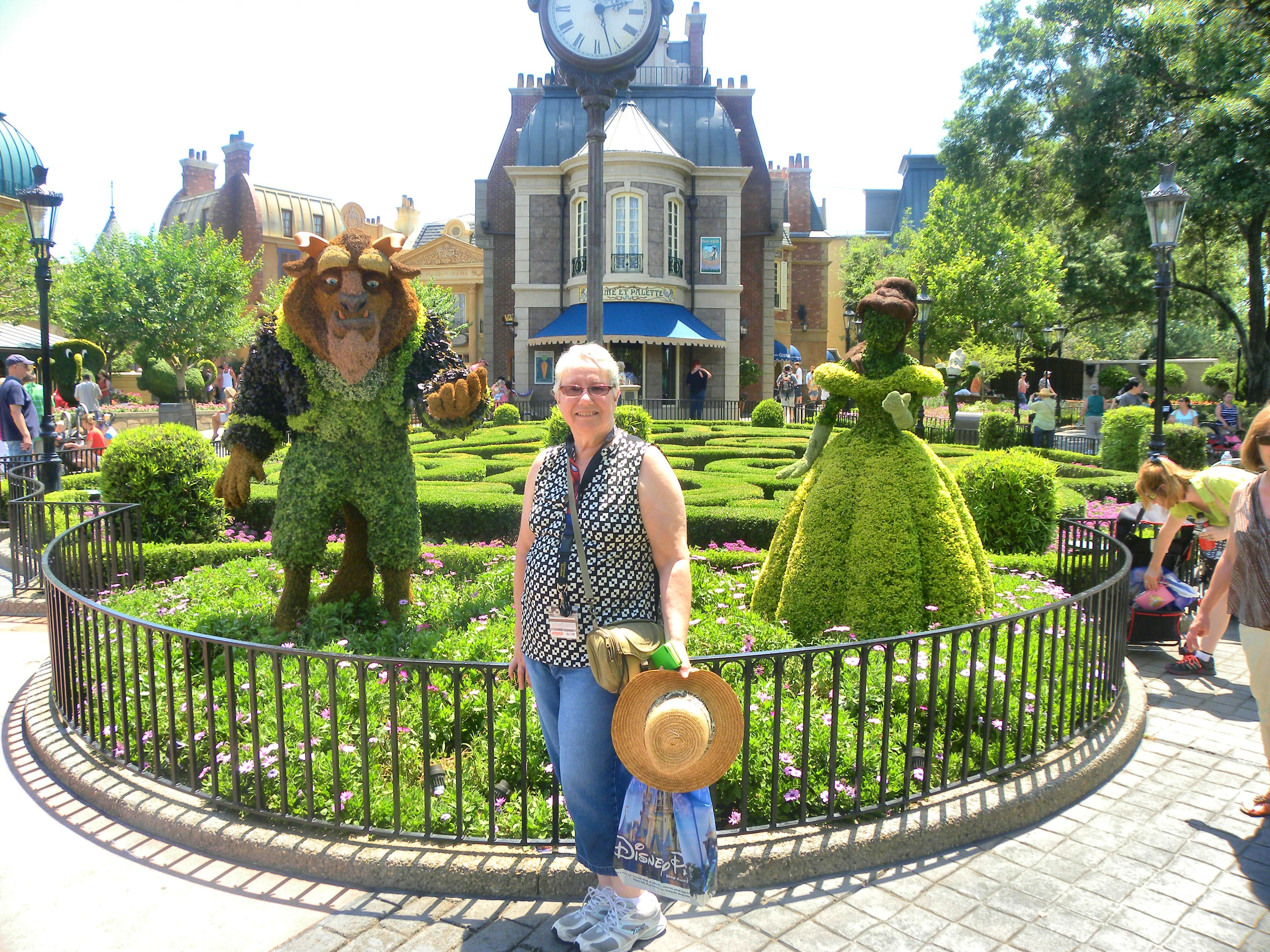 """This is me at this year's """"Flower and Garden"""" Event at Epcot 2014"""