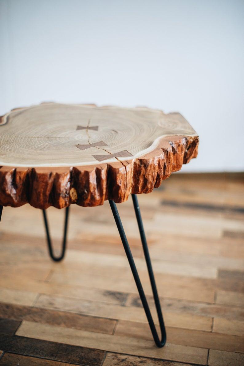 Round Coffee Table Wood Slab Rustic Coffee Table Acacia Etsy Coffee Table Wood Side Coffee Table Round Coffee Table [ 1190 x 794 Pixel ]