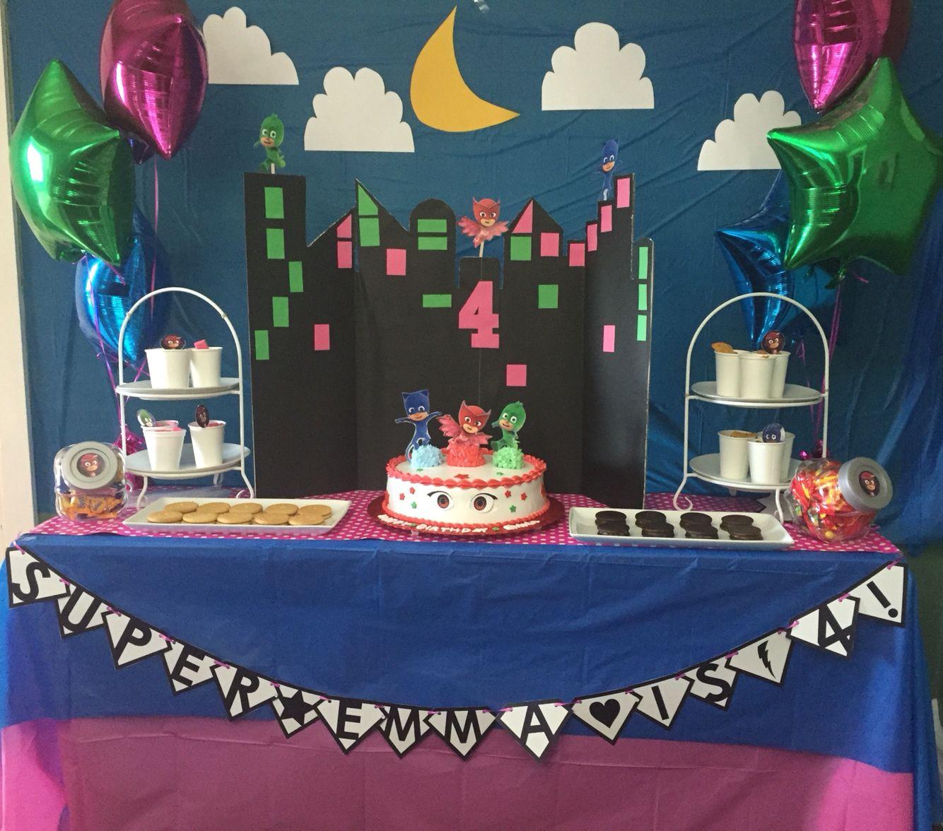 Owlette Birthday Party Decor Owlette Pjmask Owlette Birthday
