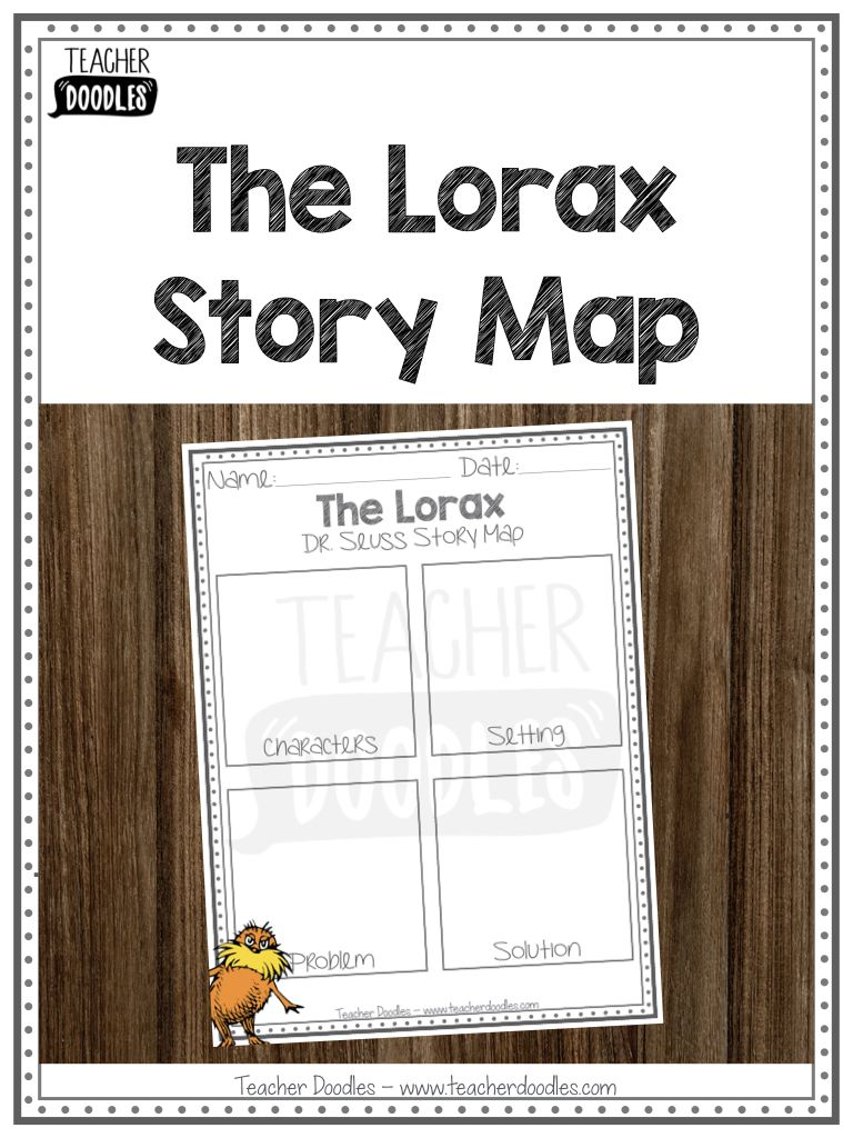 The Lorax Story Map Story Map Dr Seuss Stories Characters Setting Problem Solution [ 1024 x 768 Pixel ]