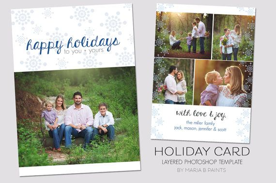 Holiday card template 5x7 front and back christmas holiday card template 5x7 front and back christmas snowflakes family greeting card m4hsunfo