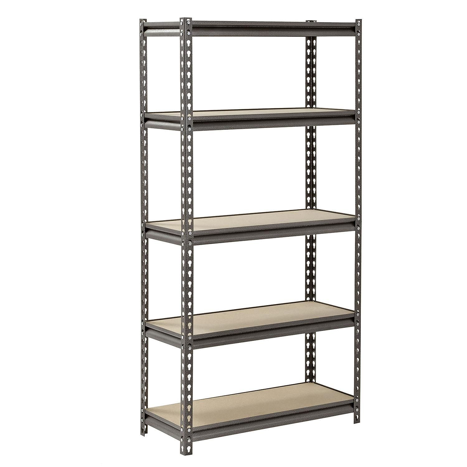 Muscle Rack 5 Level Heavy Duty Steel Shelving 30 W X 12 D X 60 H Sam S Club In 2020 Steel Shelving Steel Shelving Unit Steel Storage Rack