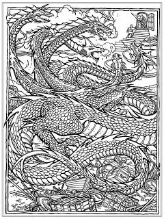 Chinese Dragon Adult Coloring Pages Dragon Coloring Page Adult